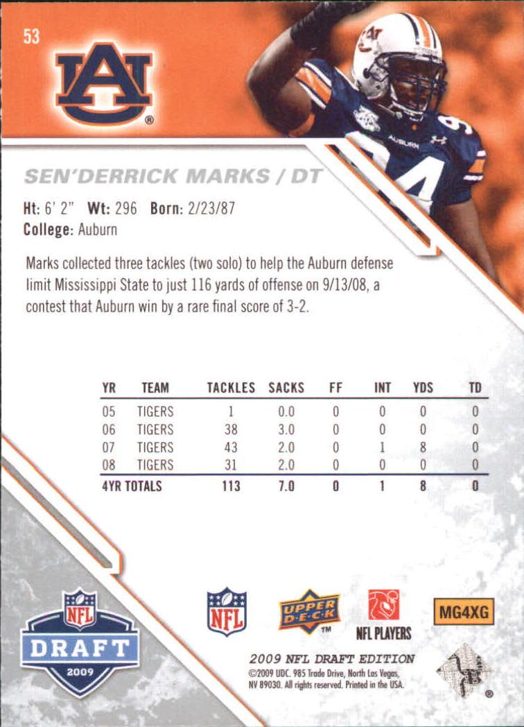 2009-Upper-Deck-Draft-Edition-Football-1-255-Your-Choice-GOTBASEBALLCARDS thumbnail 83