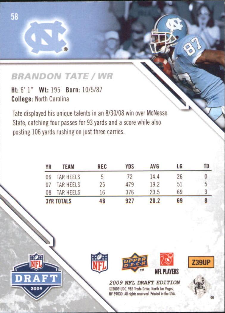 2009-Upper-Deck-Draft-Edition-Football-1-255-Your-Choice-GOTBASEBALLCARDS thumbnail 87