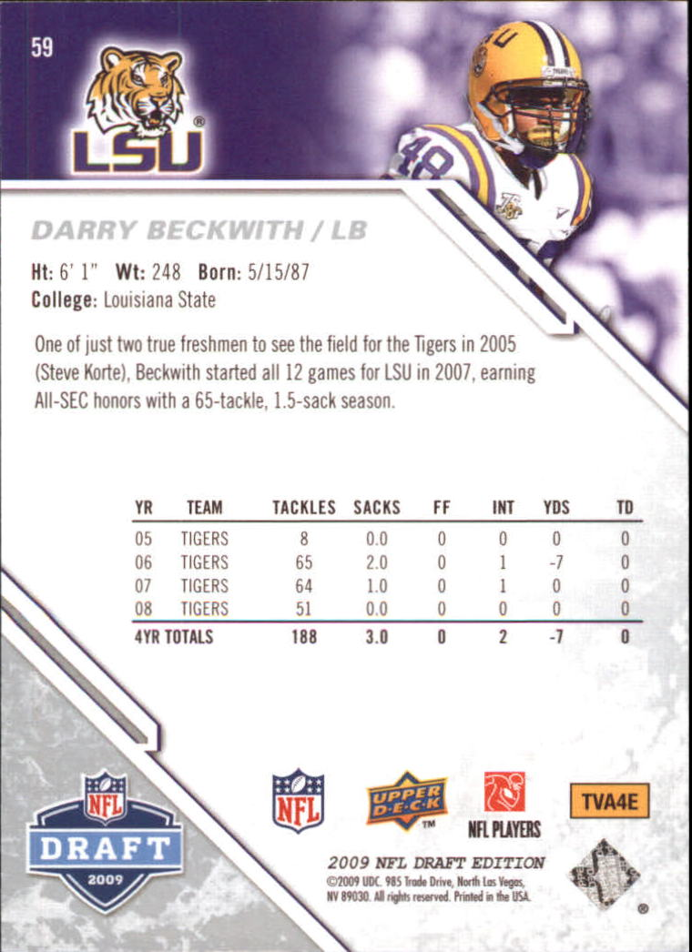 2009-Upper-Deck-Draft-Edition-Football-1-255-Your-Choice-GOTBASEBALLCARDS thumbnail 89