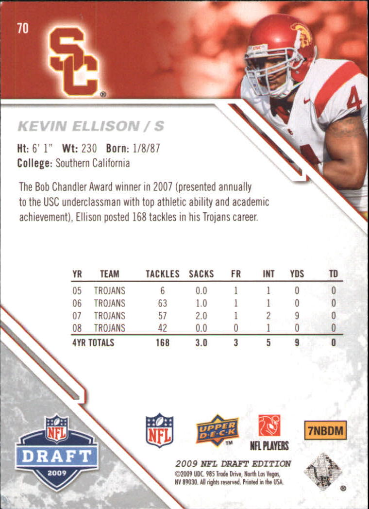 2009-Upper-Deck-Draft-Edition-Football-1-255-Your-Choice-GOTBASEBALLCARDS thumbnail 103