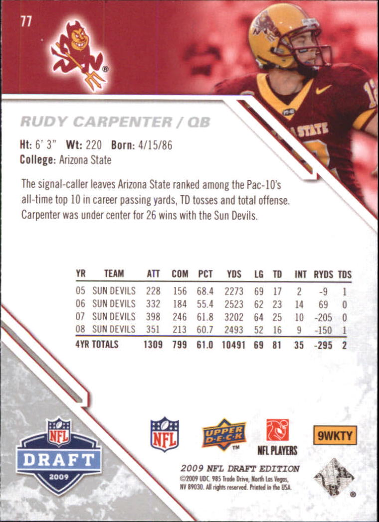 2009-Upper-Deck-Draft-Edition-Football-1-255-Your-Choice-GOTBASEBALLCARDS thumbnail 115