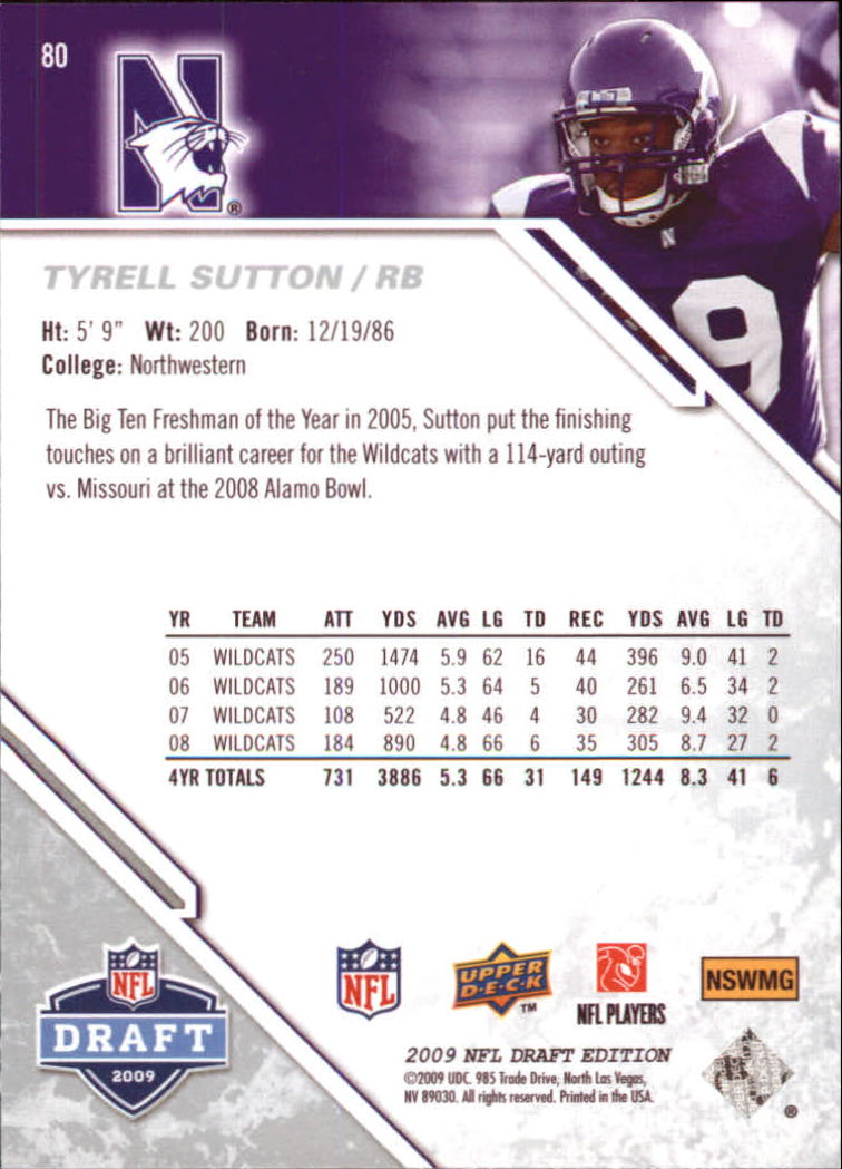 2009-Upper-Deck-Draft-Edition-Football-1-255-Your-Choice-GOTBASEBALLCARDS thumbnail 119