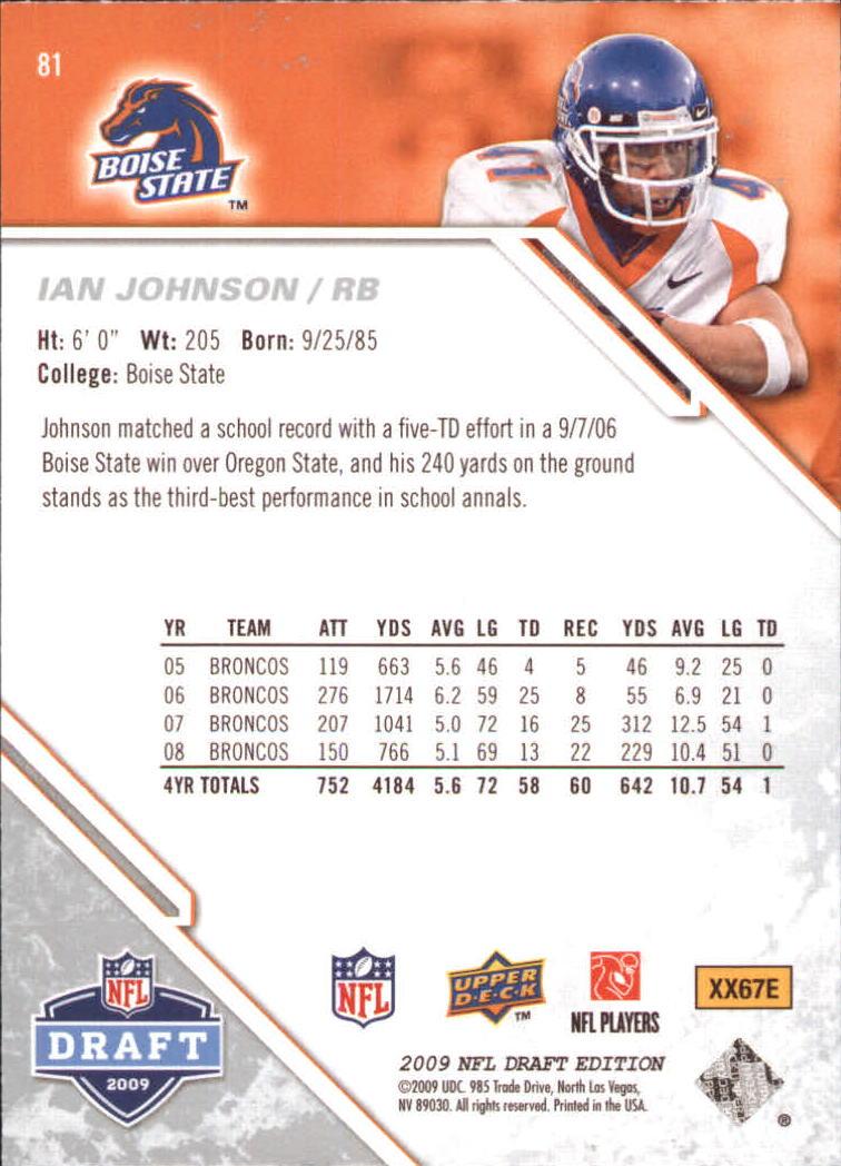 2009-Upper-Deck-Draft-Edition-Football-1-255-Your-Choice-GOTBASEBALLCARDS thumbnail 121