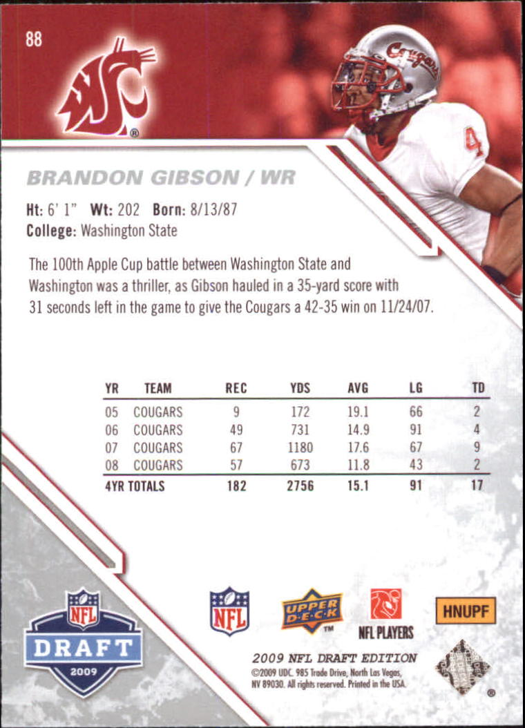 2009-Upper-Deck-Draft-Edition-Football-1-255-Your-Choice-GOTBASEBALLCARDS thumbnail 135