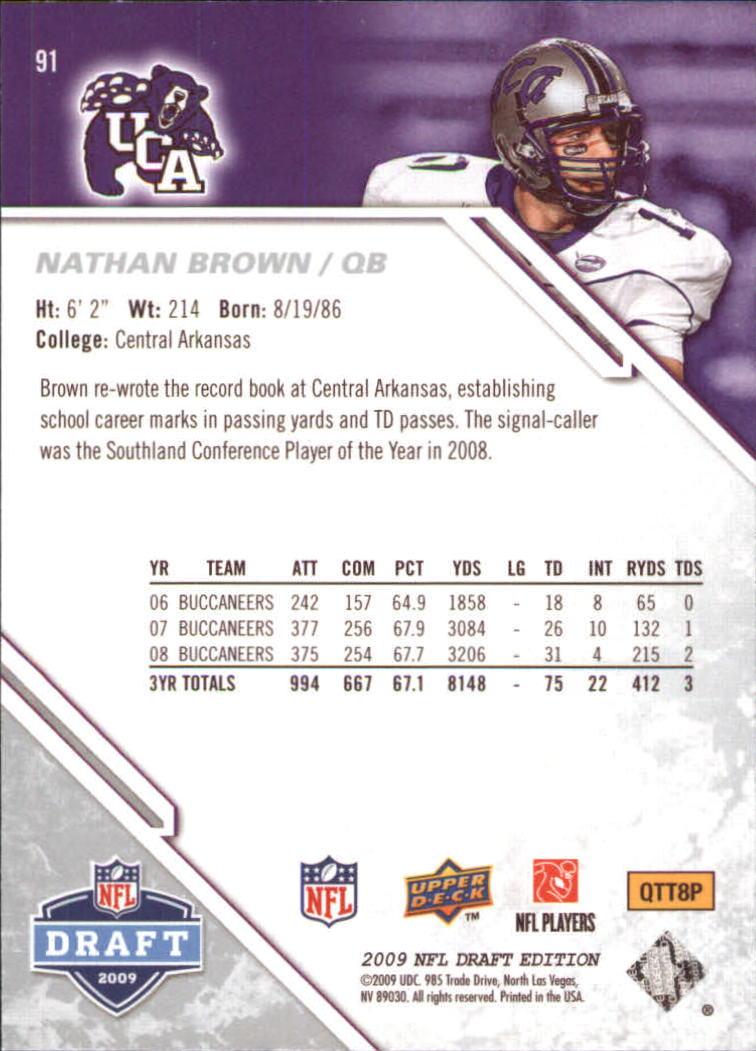 2009-Upper-Deck-Draft-Edition-Football-1-255-Your-Choice-GOTBASEBALLCARDS thumbnail 141