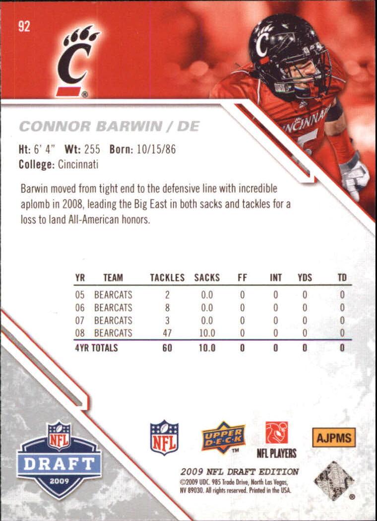 2009-Upper-Deck-Draft-Edition-Football-1-255-Your-Choice-GOTBASEBALLCARDS thumbnail 143