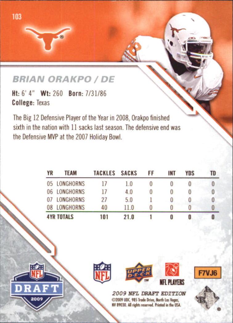 2009-Upper-Deck-Draft-Edition-Football-1-255-Your-Choice-GOTBASEBALLCARDS thumbnail 161