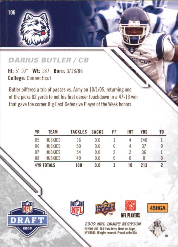 2009-Upper-Deck-Draft-Edition-Football-1-255-Your-Choice-GOTBASEBALLCARDS thumbnail 167