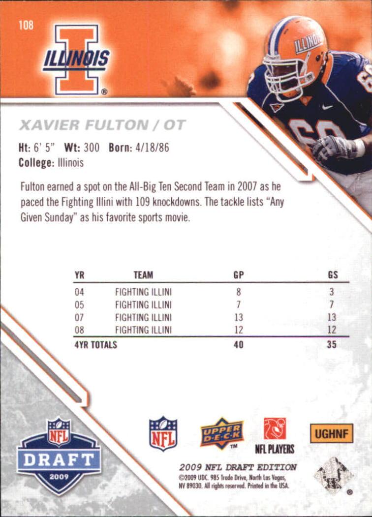 2009-Upper-Deck-Draft-Edition-Football-1-255-Your-Choice-GOTBASEBALLCARDS thumbnail 171