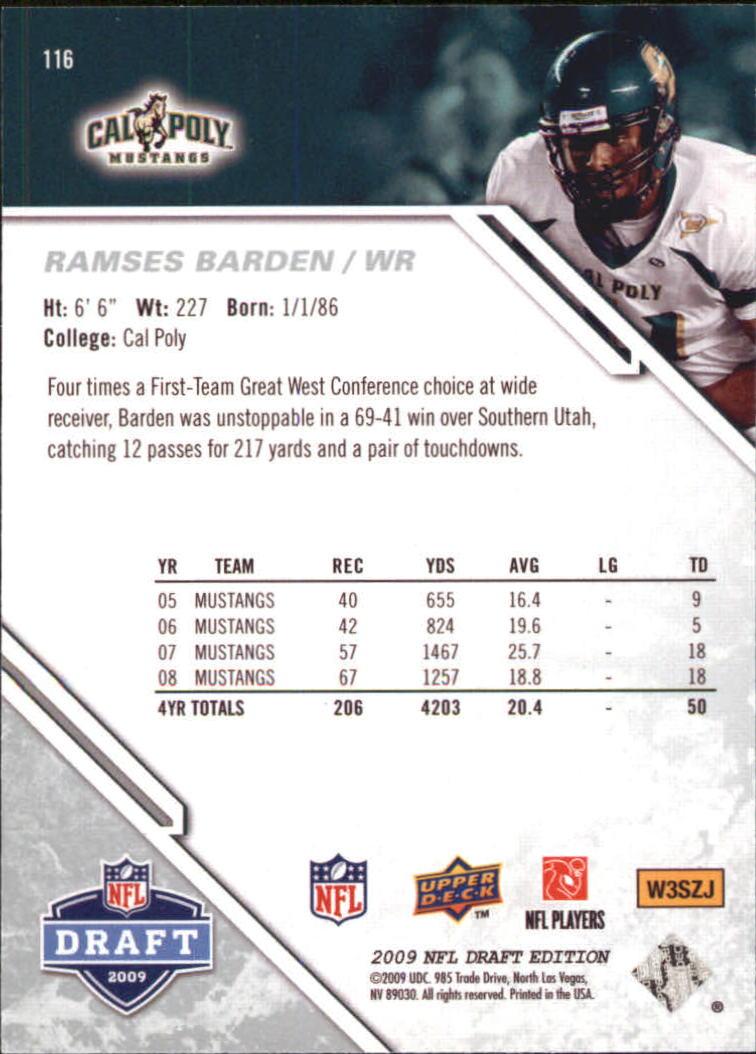 2009-Upper-Deck-Draft-Edition-Football-1-255-Your-Choice-GOTBASEBALLCARDS thumbnail 183