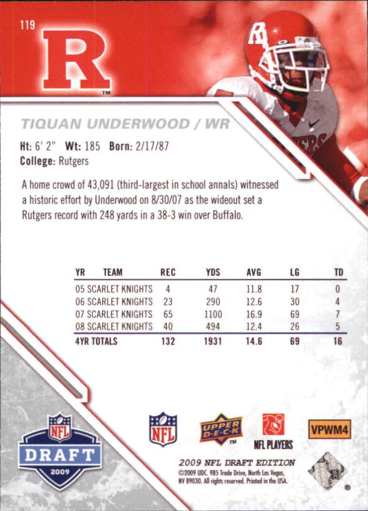 2009-Upper-Deck-Draft-Edition-Football-1-255-Your-Choice-GOTBASEBALLCARDS thumbnail 187