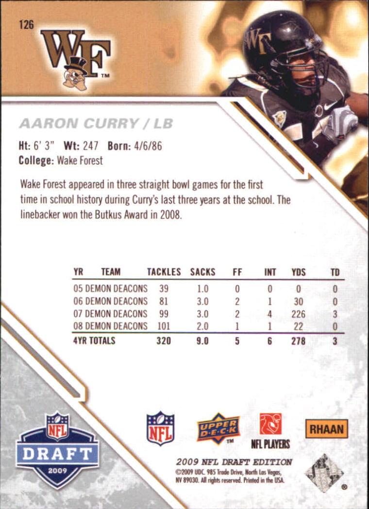 2009-Upper-Deck-Draft-Edition-Football-1-255-Your-Choice-GOTBASEBALLCARDS thumbnail 197