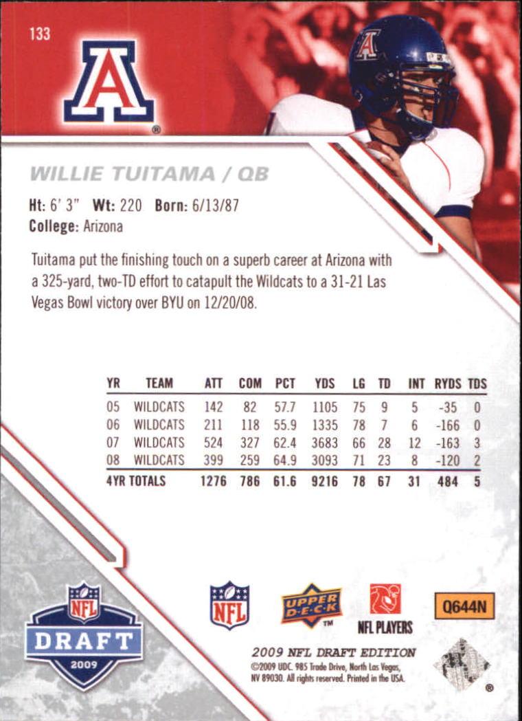 2009-Upper-Deck-Draft-Edition-Football-1-255-Your-Choice-GOTBASEBALLCARDS thumbnail 209