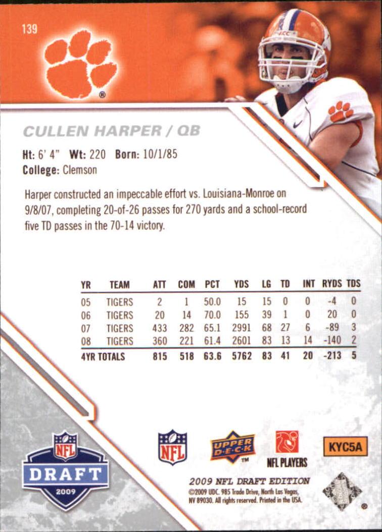 2009-Upper-Deck-Draft-Edition-Football-1-255-Your-Choice-GOTBASEBALLCARDS thumbnail 217