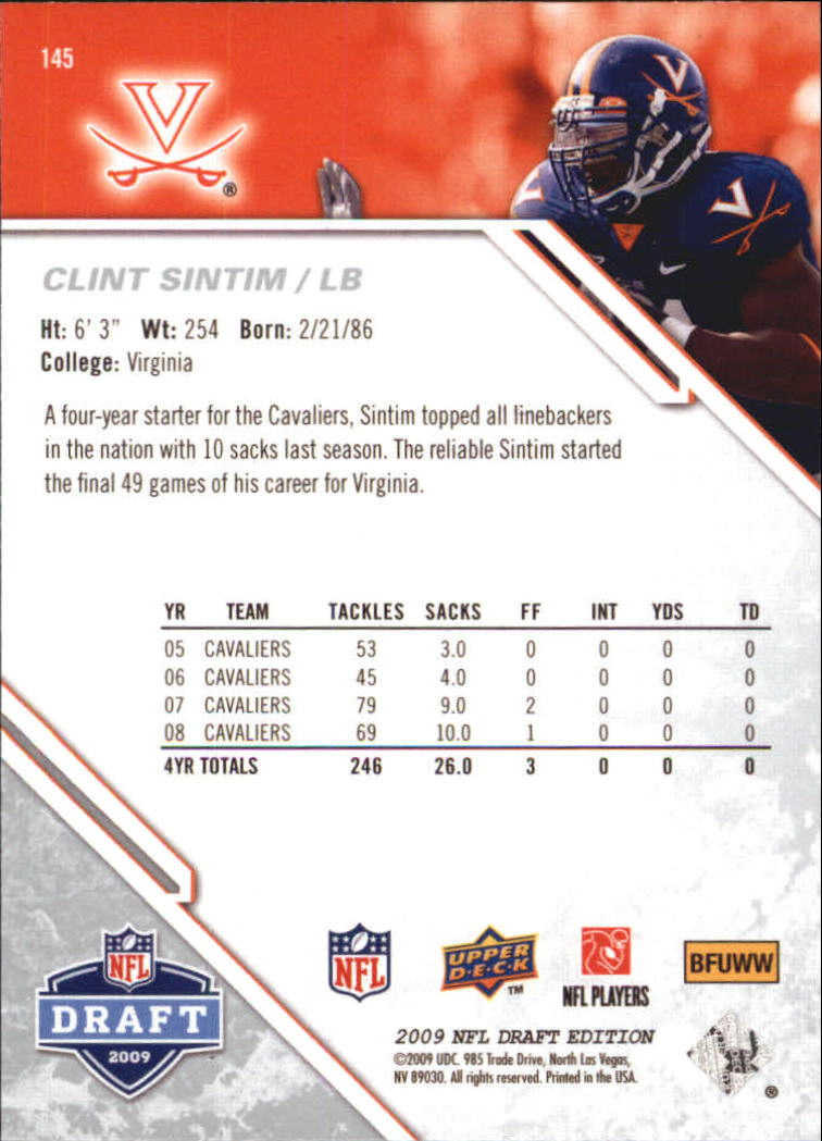 2009-Upper-Deck-Draft-Edition-Football-1-255-Your-Choice-GOTBASEBALLCARDS thumbnail 227