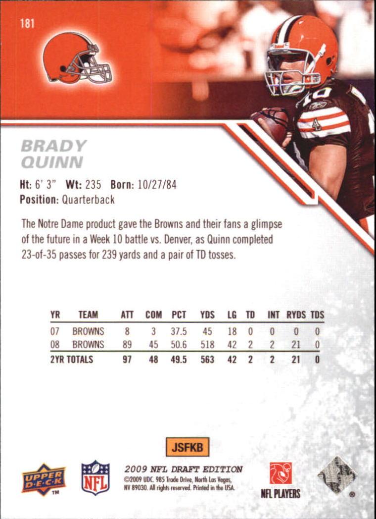 2009-Upper-Deck-Draft-Edition-Football-1-255-Your-Choice-GOTBASEBALLCARDS thumbnail 285