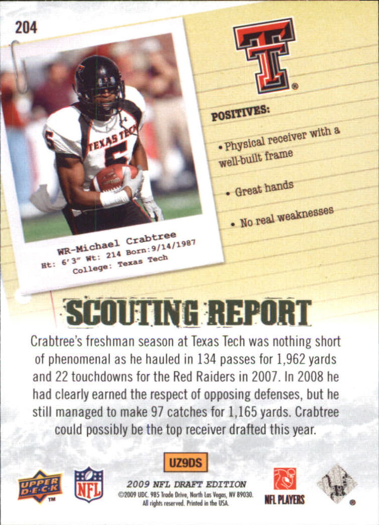 2009-Upper-Deck-Draft-Edition-Football-1-255-Your-Choice-GOTBASEBALLCARDS thumbnail 323