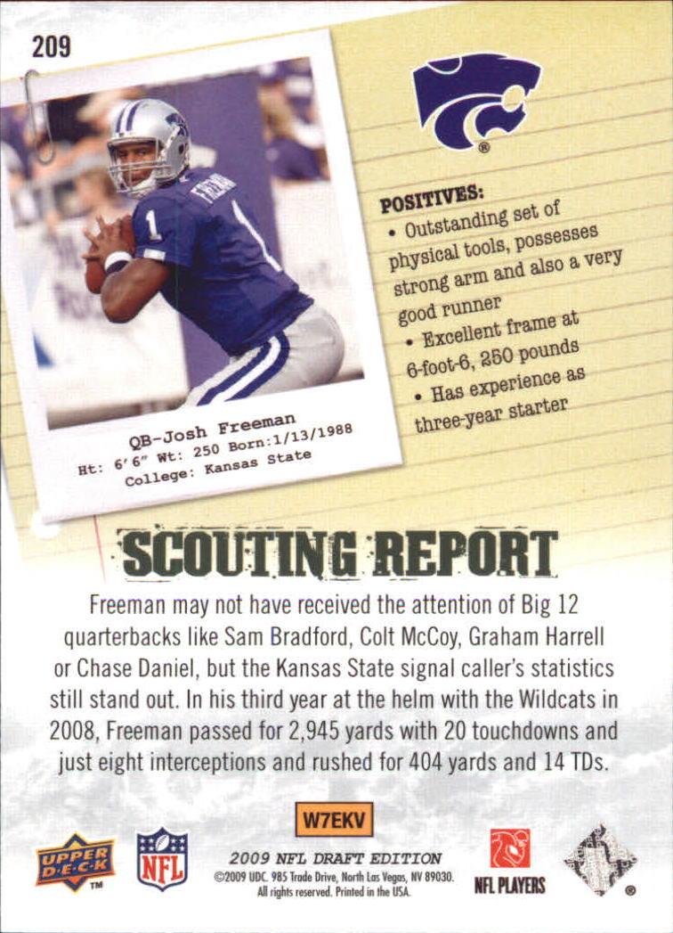 2009-Upper-Deck-Draft-Edition-Football-1-255-Your-Choice-GOTBASEBALLCARDS thumbnail 325