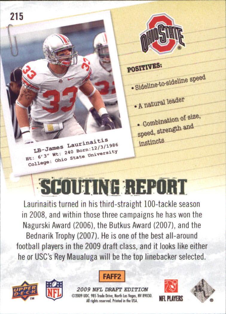 2009-Upper-Deck-Draft-Edition-Football-1-255-Your-Choice-GOTBASEBALLCARDS thumbnail 329