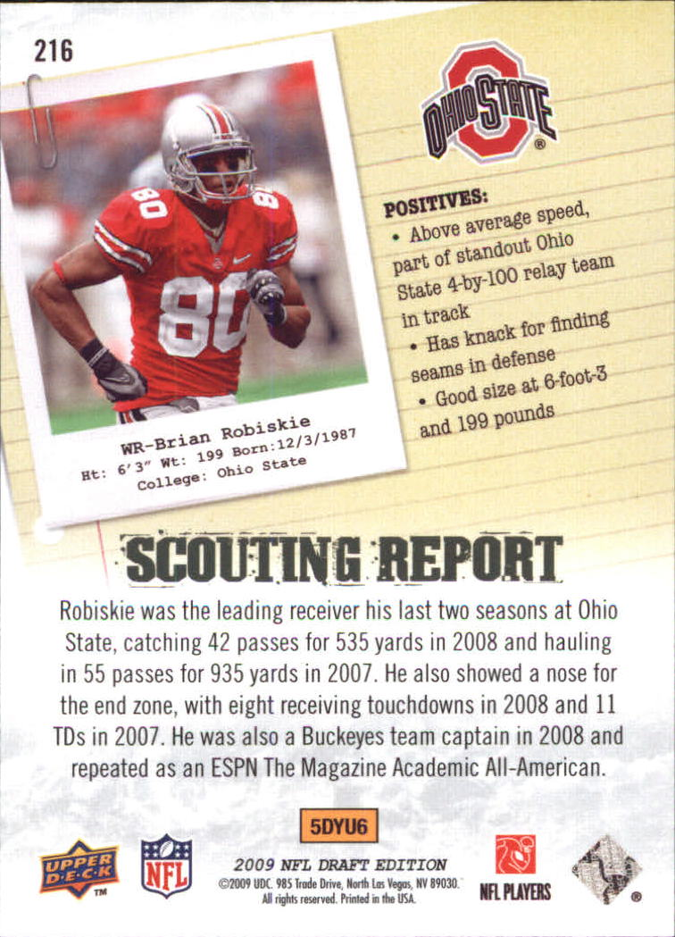 2009-Upper-Deck-Draft-Edition-Football-1-255-Your-Choice-GOTBASEBALLCARDS thumbnail 331