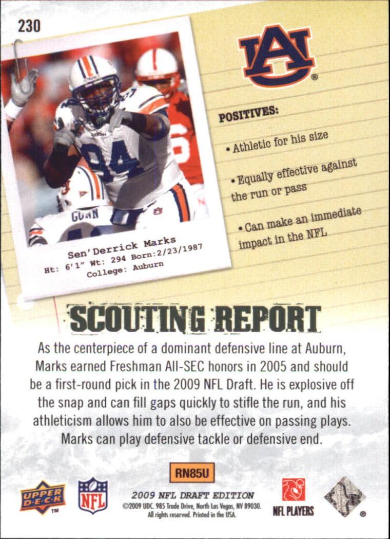 2009-Upper-Deck-Draft-Edition-Football-1-255-Your-Choice-GOTBASEBALLCARDS thumbnail 341