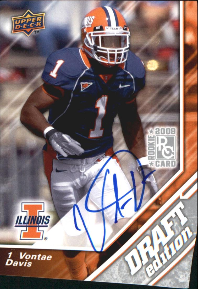 2009 Upper Deck Draft Edition Autographs Silver #73 Vontae Davis