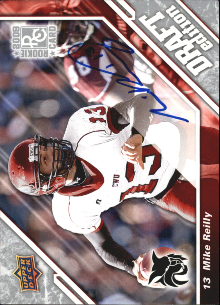 2009 Upper Deck Draft Edition Autographs Silver #144 Mike Reilly