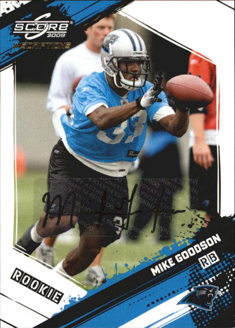 2009 Score Inscriptions Autographs #373 Mike Goodson/599