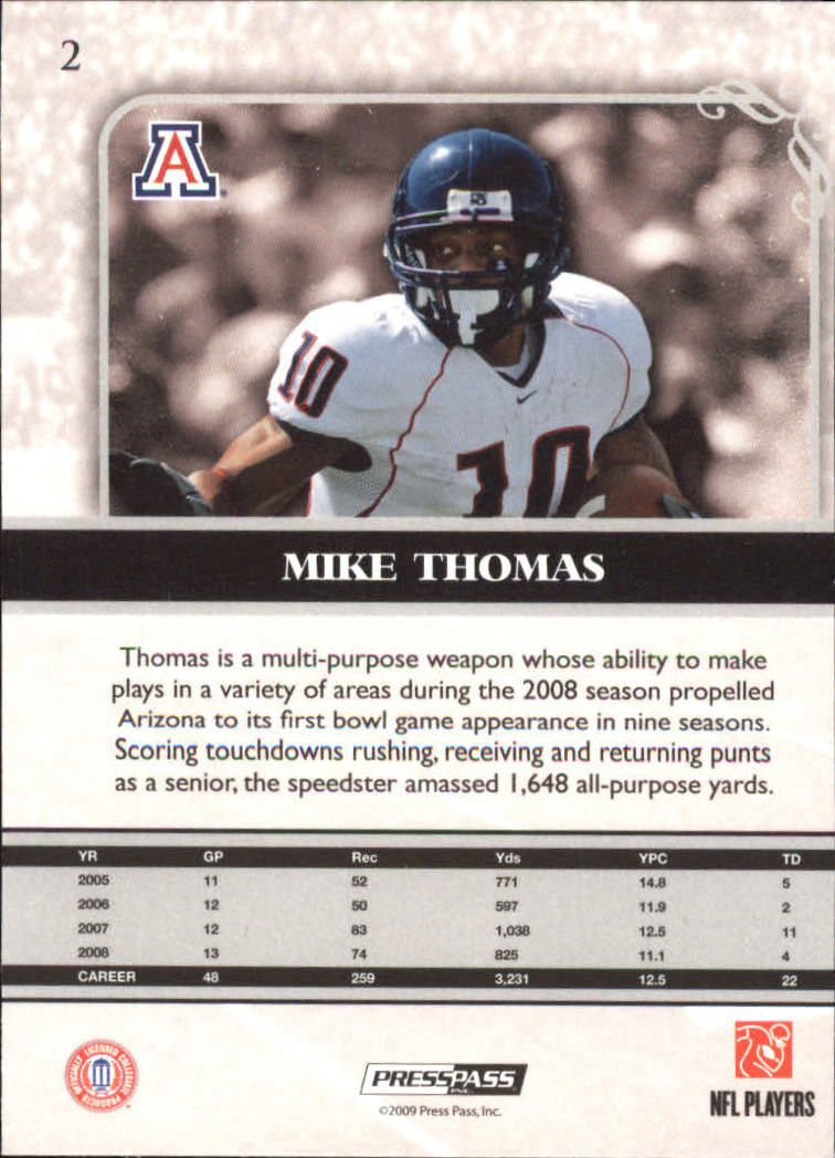 2009-Press-Pass-Legends-Football-1-100-Your-Choice-GOTBASEBALLCARDS thumbnail 5