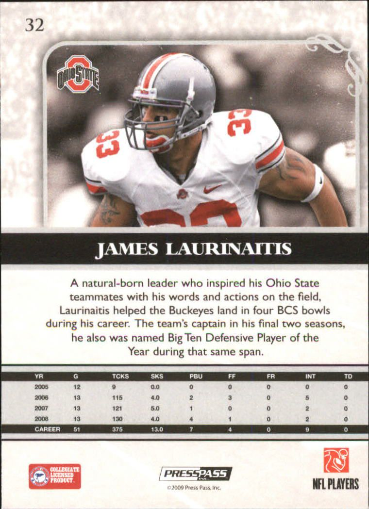 2009-Press-Pass-Legends-Football-1-100-Your-Choice-GOTBASEBALLCARDS thumbnail 49