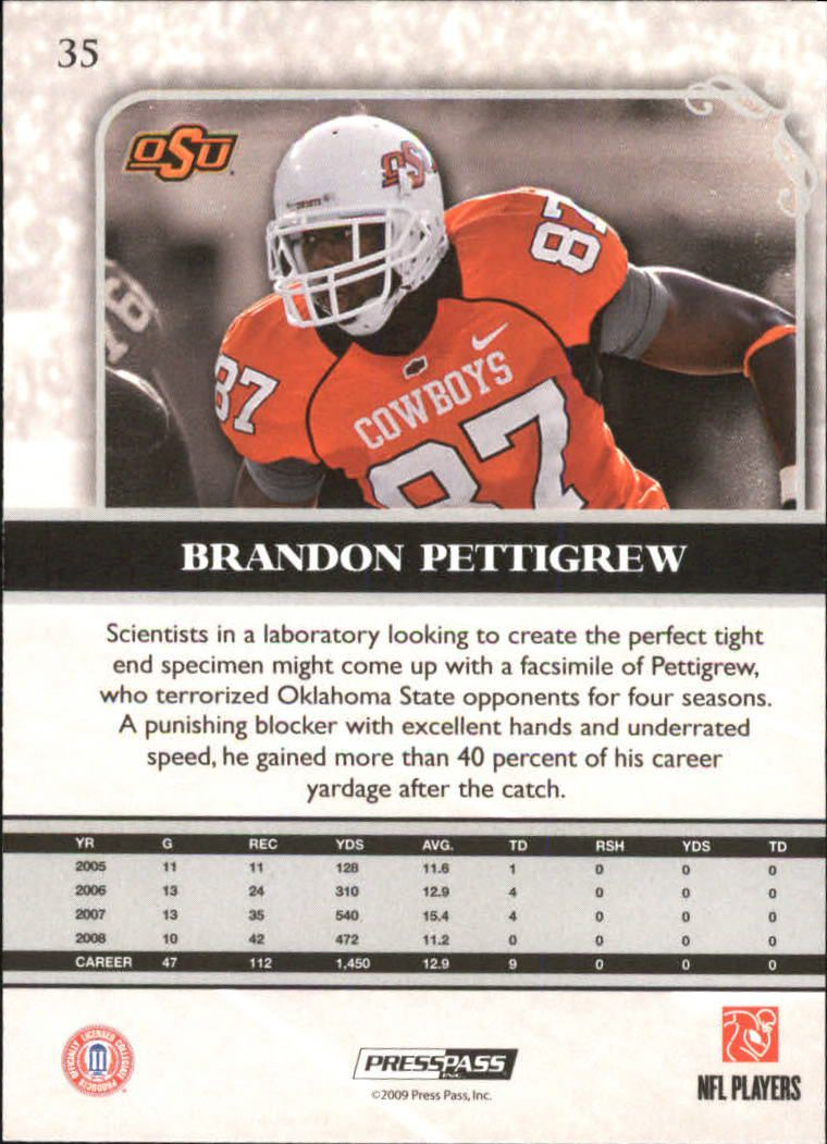 2009-Press-Pass-Legends-Football-1-100-Your-Choice-GOTBASEBALLCARDS thumbnail 53