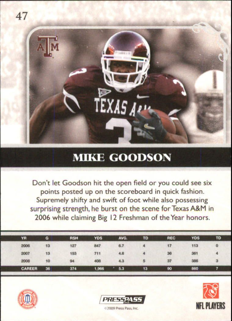 2009-Press-Pass-Legends-Football-1-100-Your-Choice-GOTBASEBALLCARDS thumbnail 69