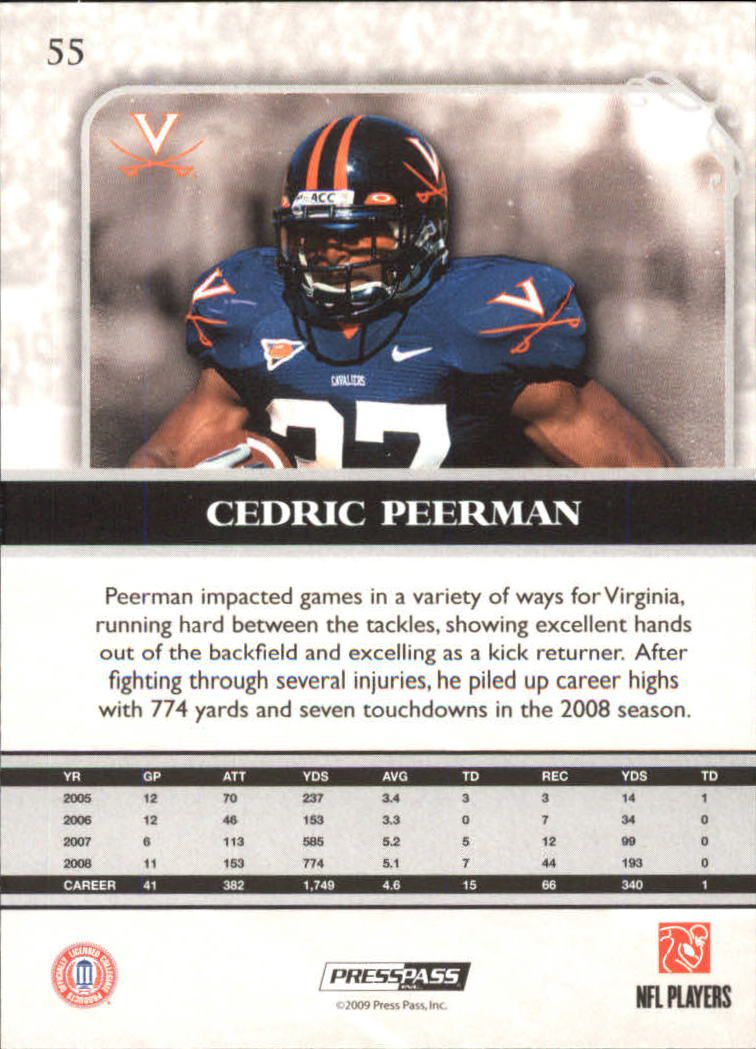 2009-Press-Pass-Legends-Football-1-100-Your-Choice-GOTBASEBALLCARDS thumbnail 79