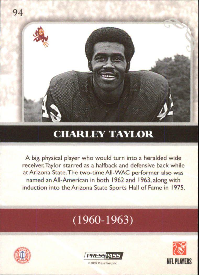 2009 Press Pass Legends #94 Charley Taylor back image