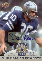 2009 Upper Deck America's Team Autographs #20 Dan Reeves