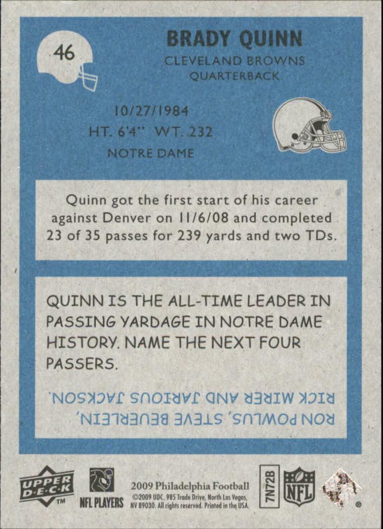 2009 Philadelphia #46 Brady Quinn back image