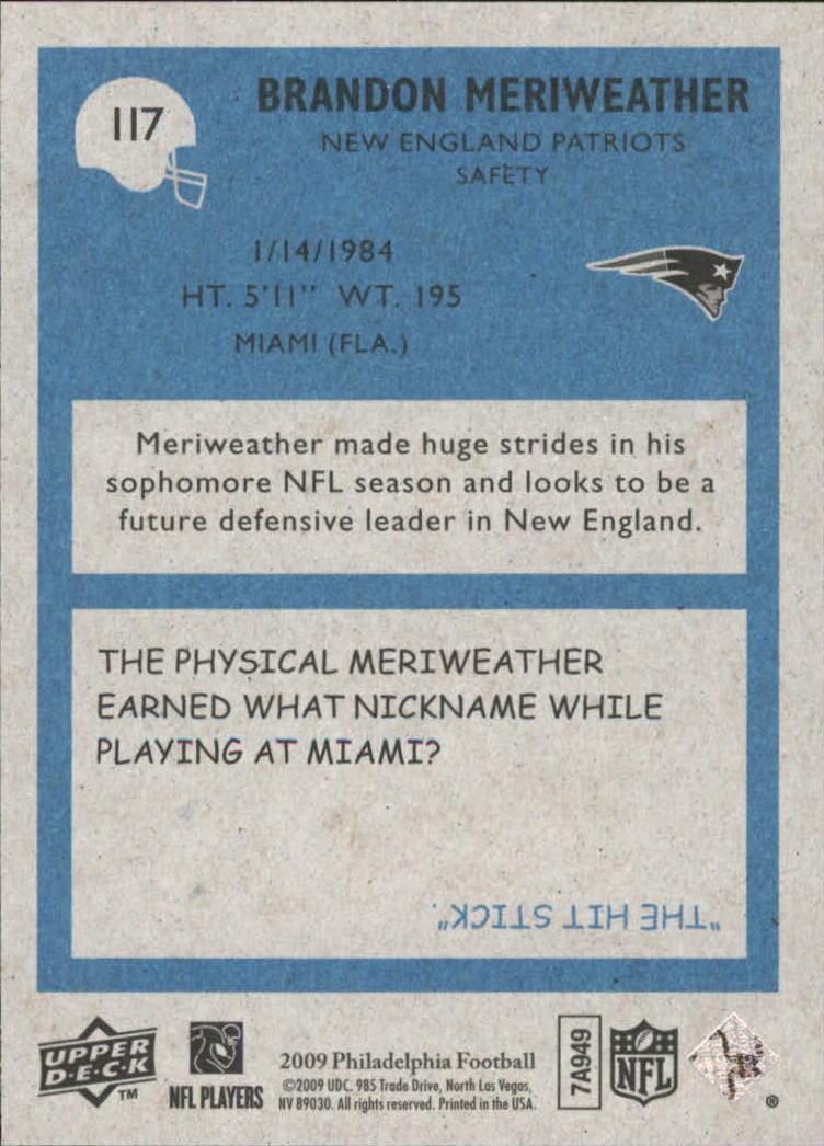 2009 Philadelphia #117 Brandon Meriweather back image