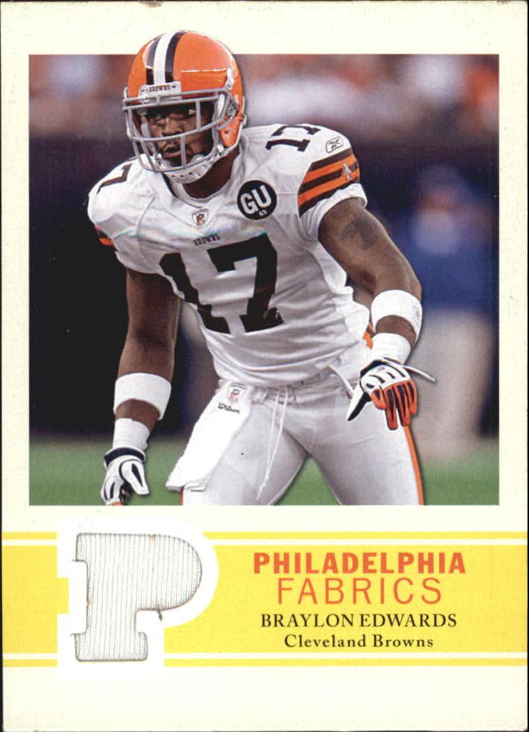2009 Philadelphia Fabric #PFBE Braylon Edwards