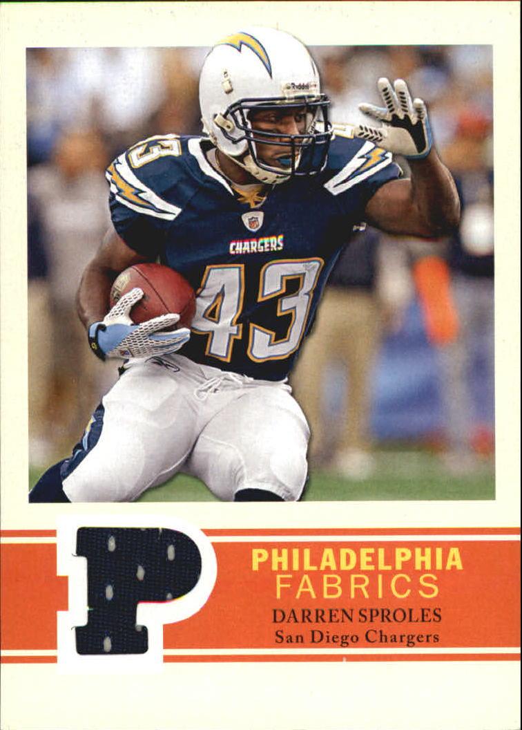 2009 Philadelphia Fabric #PFDS Darren Sproles