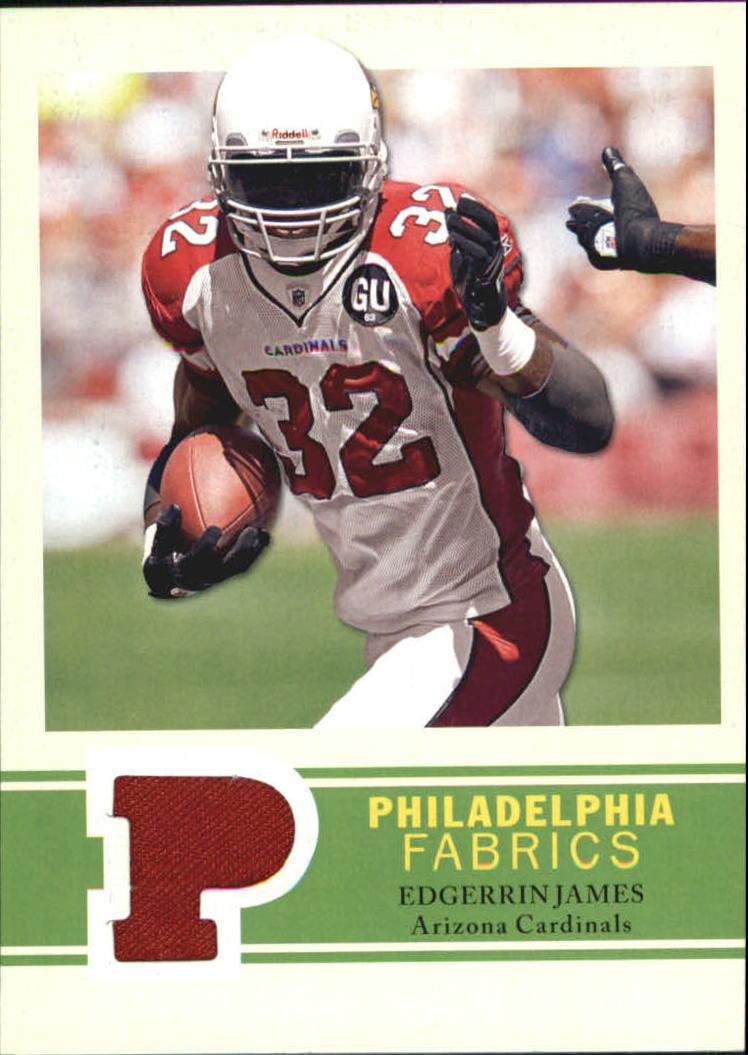 2009 Philadelphia Fabric #PFEJ Edgerrin James