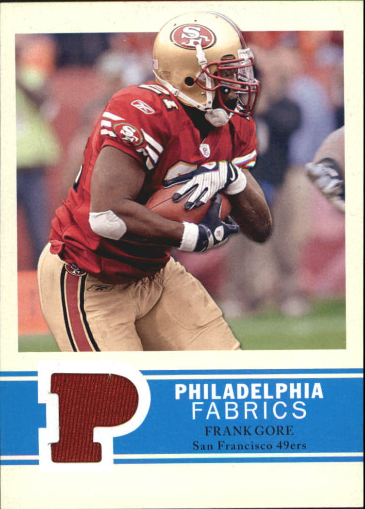 2009 Philadelphia Fabric #PFFG Frank Gore