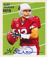 2009 Philadelphia National Chicle Autographs #NC64 Kurt Warner/13