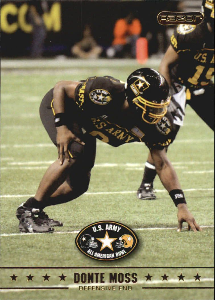 2009 Razor Army All-American Bowl #10 Donte Moss