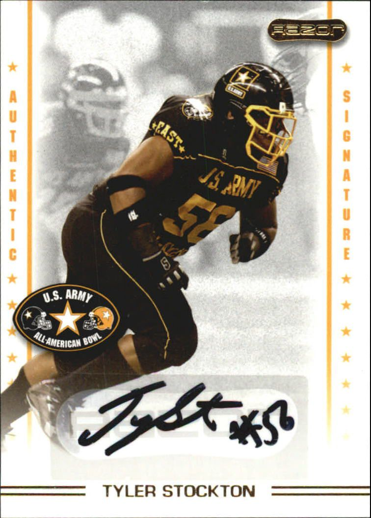 2009 Razor Army All-American Bowl Autographs #AU23 Tyler Stockton