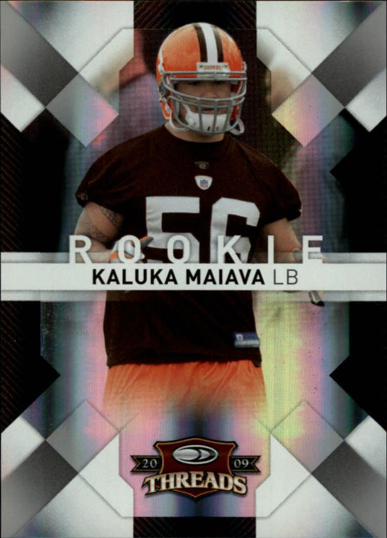 2009 Donruss Threads Silver Holofoil #158 Kaluka Maiava