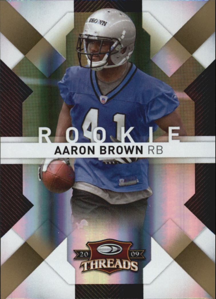 2009 Donruss Threads Gold Holofoil #101 Aaron Brown