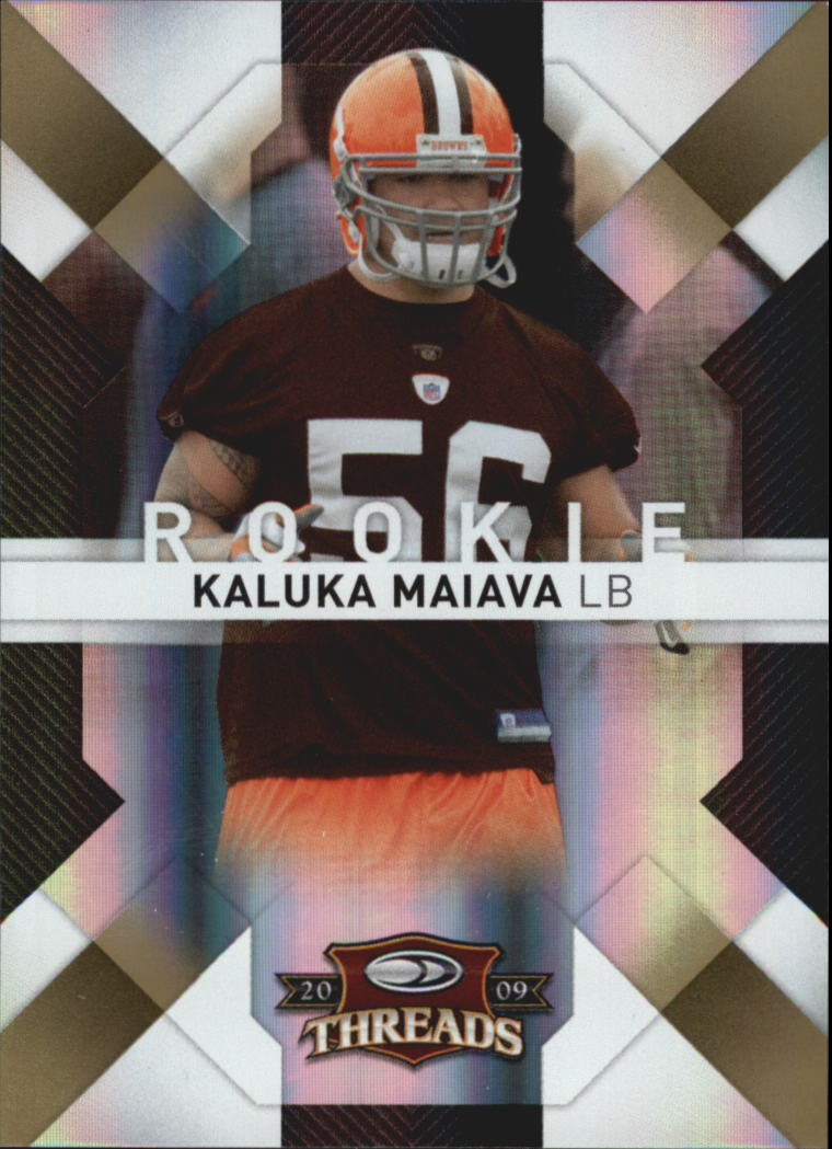 2009 Donruss Threads Gold Holofoil #158 Kaluka Maiava
