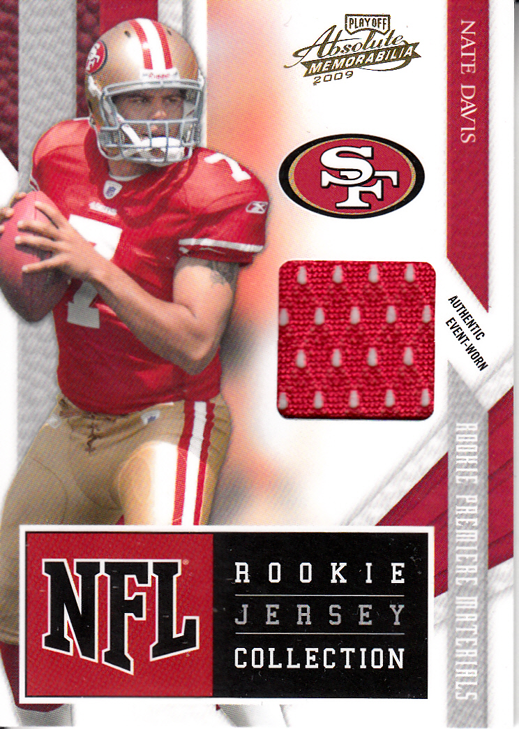 2009 Absolute Memorabilia Rookie Jersey Collection #18 Nate Davis