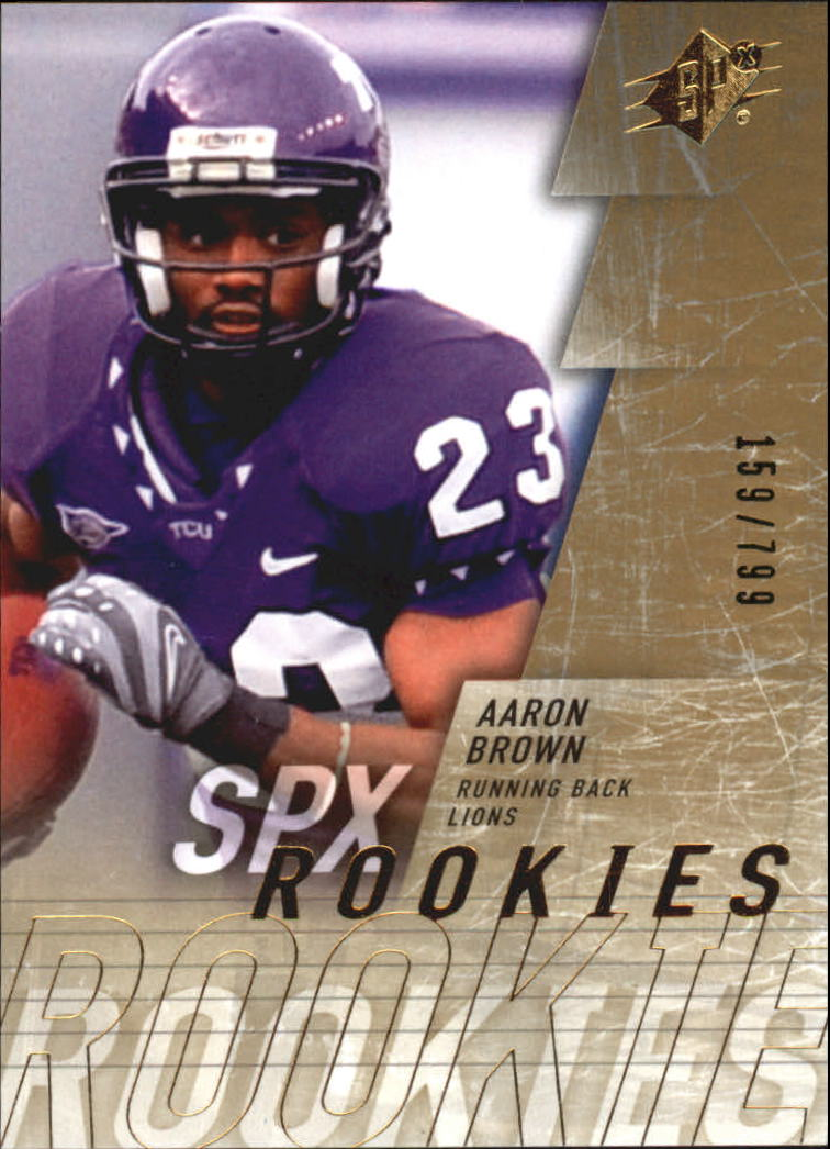 2009 SPx #164 Aaron Brown RC
