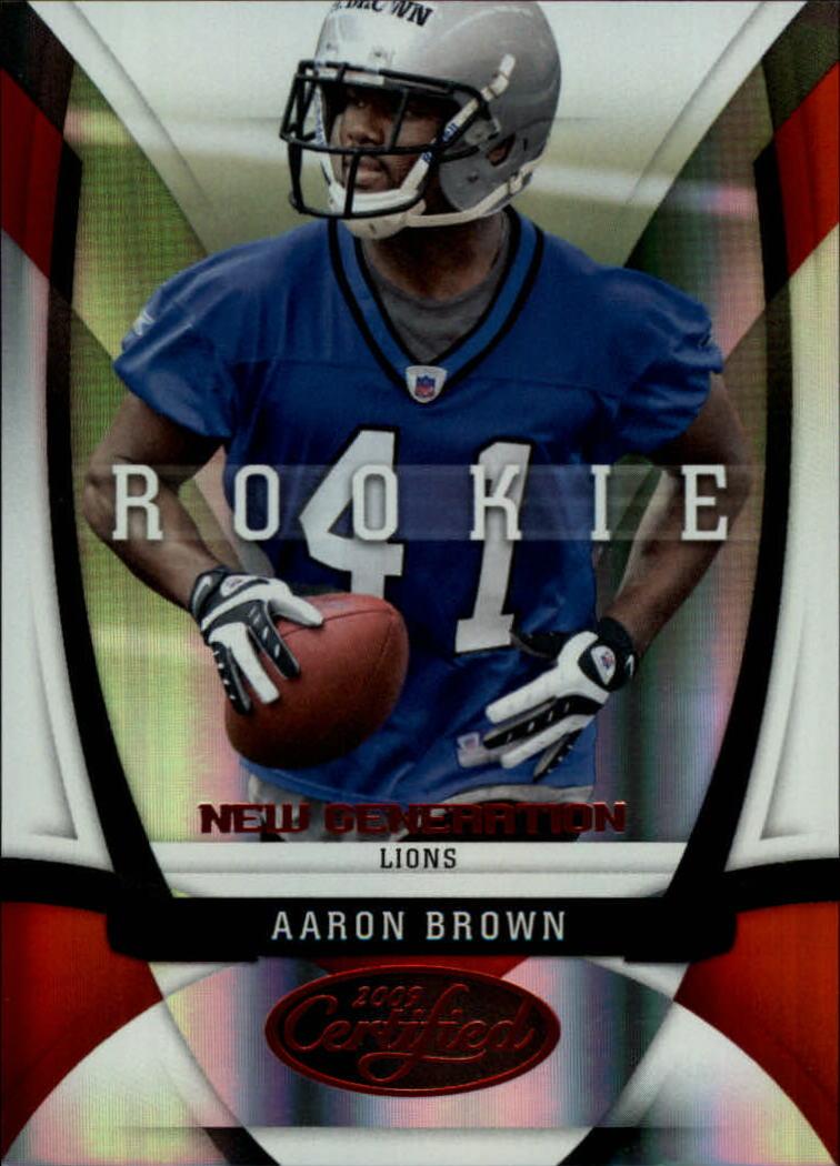 2009 Certified Mirror Red #126 Aaron Brown